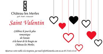 Hôtel Château les Merles et ses villas - Séjour Saint Valentin