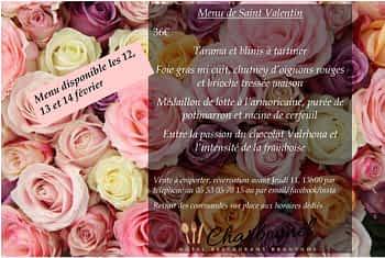 Hôtel Restaurant Charbonnel *** - Un Menu à emporter pour la saint Valentin 2021